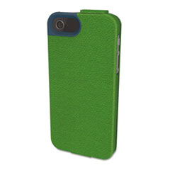 Kensington Portafolio Flip Wallet for iPhone 5, Green/Blue