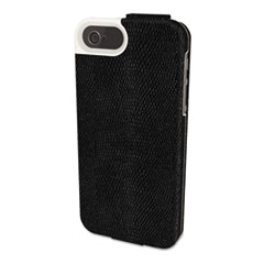 Kensington Portafolio Flip Wallet for iPhone 5, Black Snake