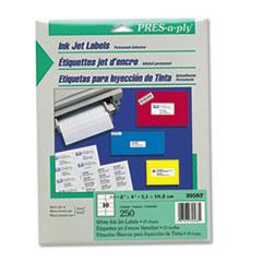 PRES-a-ply®-LABEL,INKJET,2X4,10/SH