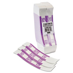 Self-Adhesive Currency Straps, Violet, $2,000 in $20 Bills, 1000 Bands/Box
