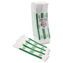 MMF Industries Self-Adhesive Currency Straps, Green, $200 in Dollar Bills, 1000 Bands/Box