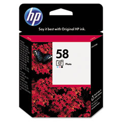 C6658AN (HP 58) Ink Cartridge, 140 Page-Yield, Tri-Color