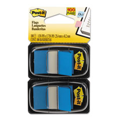 Post-it Flags Standard Tape Flags in Dispenser, Blue, 100 Flags/Dispenser