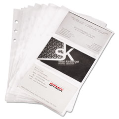 Samsill Business Card Binder Refill Pages, Six 2 x 3 1/2 Cards/Page, Clear, 10 Pages/PK