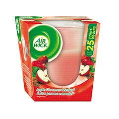 Air Wick Frosted Candle, Apple-Cinnamon Medley, 3oz, Pink