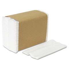 HyNap Tall Fold Dispenser Napkins, One-Ply, 7 x 13-1/2, White, 10000/Carton