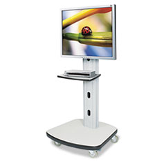 BALT Mobile Plasma/LCD Stand, 1-Shelf, 30-1/2w x 29-1/2d x 66-1/2h, Gray, Box 2 of 2