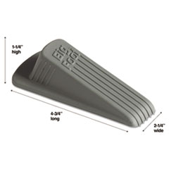 Master Caster Big Foot Doorstop, No-Slip Rubber Wedge, 2-1/4w x 4-3/4d x 1-1/4h, Gray