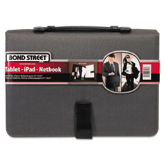 Bond Street, Ltd. Tablet Case/Organizer with Writing Pad, 14-3/4 x 2, x 10-1/4, Charcoal