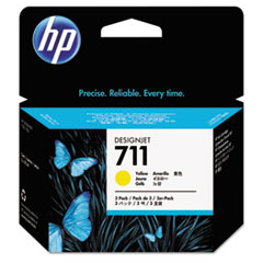 CZ136A, HP-711, Ink, 29 mL, Yellow, 3/Pk
