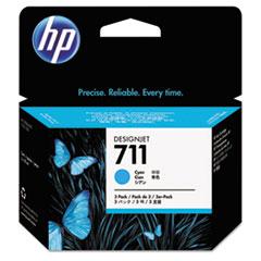 CZ134A, HP-711. Ink, 29 mL, Cyan, 3/Pk