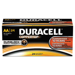 Duracell CopperTop Alkaline Batteries with Duralock Power Preserve Technology - DUR MN1500B24