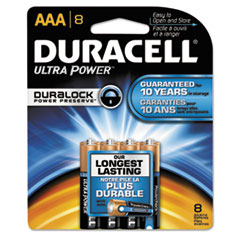 Duracell Ultra Power Alkaline Batteries with Duralock Power Preserve Technology, AAA,8/Pk