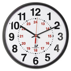 Chicago Lighthouse Quartz 12-24 Hour Wall Clock, 12-3/4