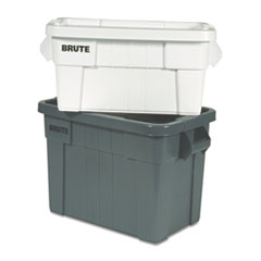 "Rubbermaid® Commercial CONTAINER TOTE 20GAL GY BRUTE TOTE BOX, 20 GAL, 27.88"" X 17.38"" X 15.13"", GRAY"