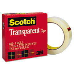 Scotch Transparent Tape, 1/2