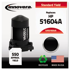 51604A Compatible, Remanufactured, 51604A Ink, 550 Page-Yield, Black