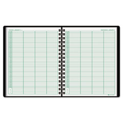 AT-A-GLANCE Recycled Four-Person Group Daily Appointment Book, Black, 8