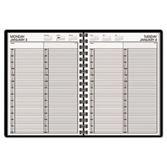 Recycled Two-Person Daily Appointment Book, 8 x 10-7/8, Black, 2013