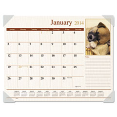 Visual Organizer Recycled Puppies Desk Pad, 22 x 17, 2013