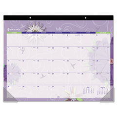 AT-A-GLANCE Flowers Desk Pad, 22 x 17, 2014