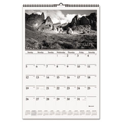 AT-A-GLANCE Recycled Black-and-White Wall Calendar, 15-1/2 x 22-3/4, 2015