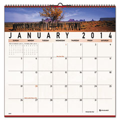 AT-A-GLANCE Recycled Open Plan Landscape Wall Calendar, 12 x 12, 2014