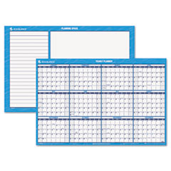 AT-A-GLANCE Recycled Horizontal Erasable Wall Planner, Yearly Calendar, 36