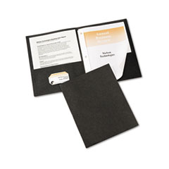 Avery Paper Two-Pocket Report Cover, Tang Clip, Letter, 1/2