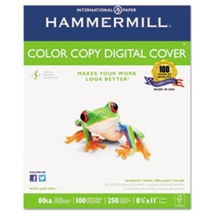 Hammermill Color Copy Digital Cover Stock, 80 lbs., 8-1/2 x 11, White, 250 Sheets