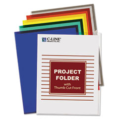 C-Line Project Folders, Jacket, Letter, Poly, Assorted Colors, 25/Box