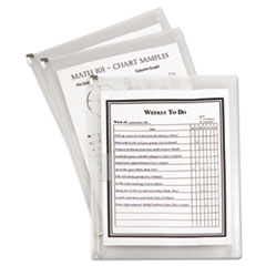 C-Line Letter Size Zip �N Go Expanding Portfolio with Outer Pocket, 13 x 10, Clear