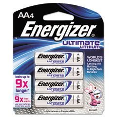 Energizer Lithium Batteries, AA, 4 Batteries/Pack