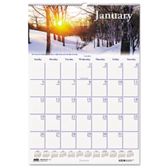 House of Doolittle Scenic Beauty Monthly Wall Calendar, 15-1/2 x 22, 2016