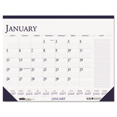House of Doolittle Two-Color Monthly Desk Pad Calendar w/Large Notes Section, 22 x 17, 2015