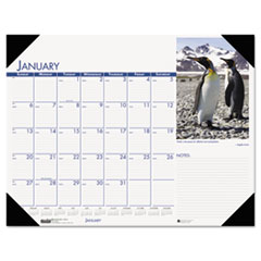 House of Doolittle Beautiful Wildlife Photographic Monthly Desk Pad Calendar, 18-1/2 x 13, 2015
