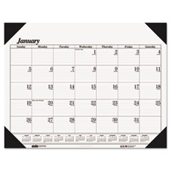 House of Doolittle Workstation-Size One-Color Monthly Desk Pad Calendar, 18-1/2 x 13, 2014