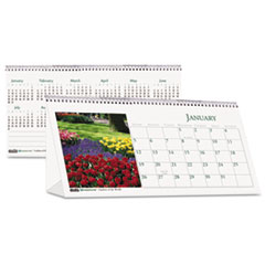 House of Doolittle Garden Photos Desk Tent Monthly Calendar, 8-1/2 x 4-1/2, 2015