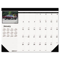 House of Doolittle Classic Cars Photographic Monthly Desk Pad Calendar, 22 x 17, 2015