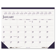 House of Doolittle Two-Color Monthly Desk Pad Calendar, 22 x 17, 2014