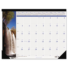 House of Doolittle Waterfalls of the World Photographic Monthly Desk Pad Calendar, 22 x 17, 2016