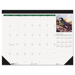 House of Doolittle Wild Birds Photographic Monthly Desk Pad Calendar, 22 x 17, 2015