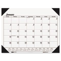 House of Doolittle One-Color Refillable Monthly Desk Pad Calendar, 22 x 17, 2014