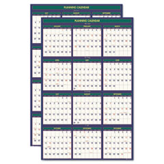 House of Doolittle 4 Seasons Reversible/Erasable Business/Academic Calendar, 24x37, 2013-2014; 2014