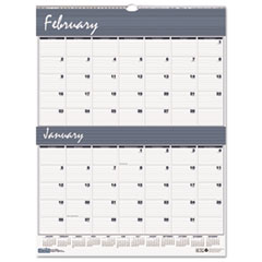 House of Doolittle Two-Months-per-Page Wirebound Wall Calendar, 20 x 26, 2014