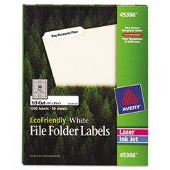 Avery EcoFriendly Labels, 2/3 x 3-7/16, White, 1500/Pack
