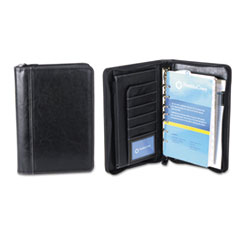 FranklinCovey Vinyl Ring Bound Binder Organizer Set, Zip-Around Closure, 9-1/2 x 7-1/2, Black