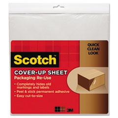Scotch Cover-Up Sheet, 12 x 12, White, 6/Pk