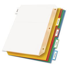 Cardinal Ring Binder Divider Pockets With Index Tabs, Letter, Assorted Colors, 5/Pack