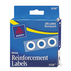 Avery Dispenser Pack Hole Reinforcements, 1/4